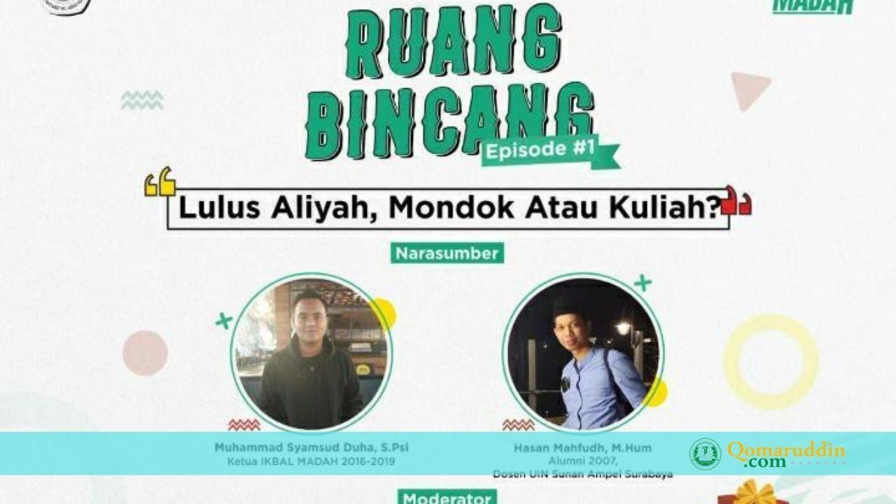 Ruang Bincang; Serial Diskusi Online ala Alumni MA Assa'adah